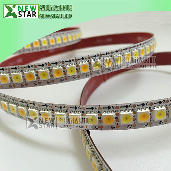 WWA-Dual-white-double-white-3000k-to-6000k-CCT-Addressable-107S-APA107-CCT-Pixel-LED-strip-lights-1
