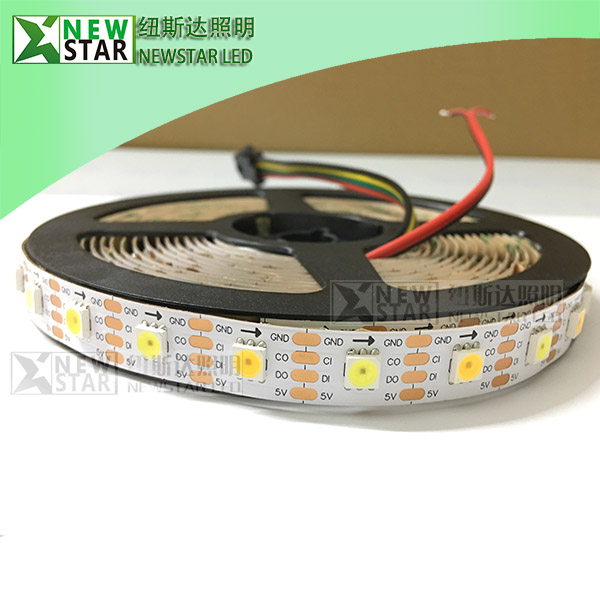 addressable NS107S dual white CCT adjustable pixel WW LED Strips-2